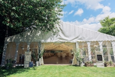 This 9m marquee was a very tight fit but looked stunning in this garden in Portchester.