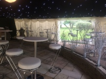 Our marquee can be easily attached to your house to increase your party space.